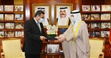 سفير مصر لدى الكويت مع وزير الخارجية الكويتي