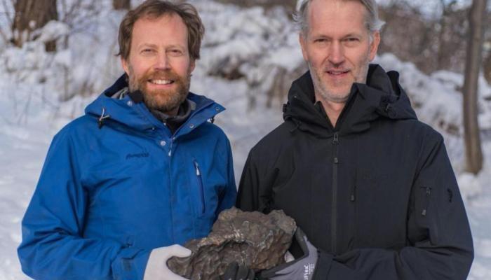 العثور على بقايا نيزك في السويد