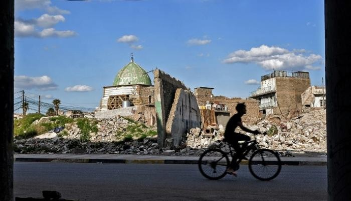 مسجد النوري المتضرر من القصف عام 2017 في الموصل