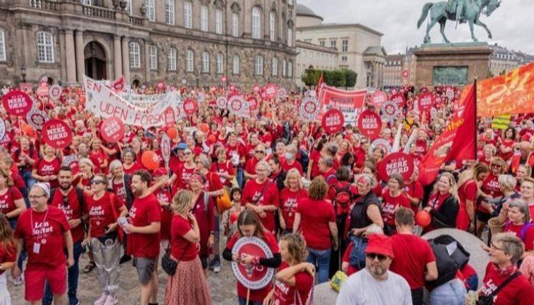مظاهرات الممرضات في الدنمارك