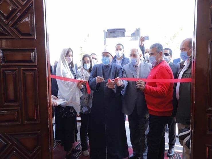 وزير الأوقاف يفتتح مسجد برأس البر