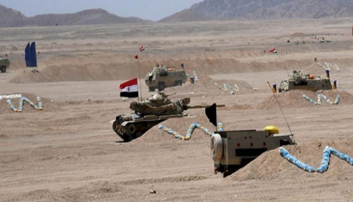 الجيش المصري خلال التدريب