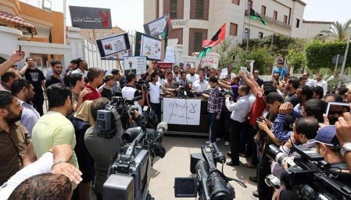 صحفيون ليبيون يتظاهرون