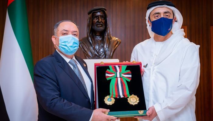 الشيخ عبدالله بن زايد آل نهيان والسفير الأردني