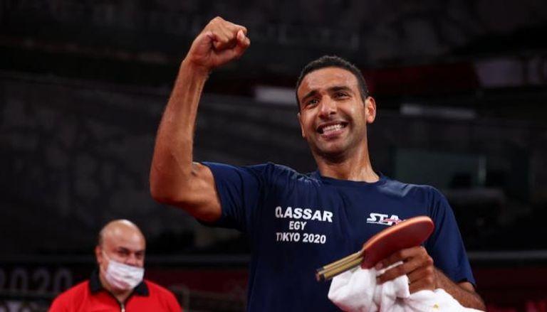 لاعب تنس الطاولة المصري عمر عصر
