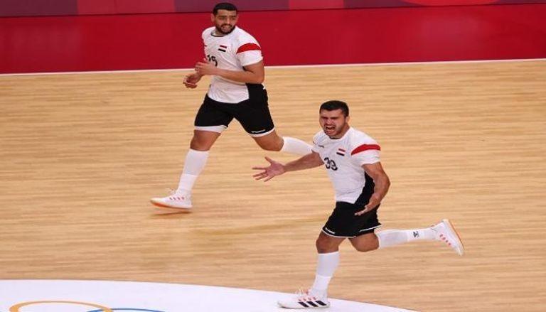 يحيى الدرع لاعب منتخب مصر لكرة اليد