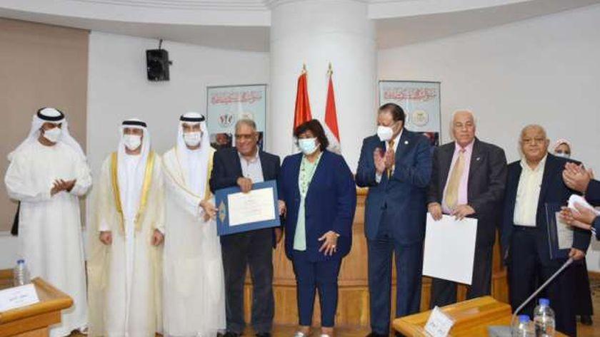 وزيرة الثقافة تشهد تكريم ملتقى الشارقة ل 4 مبدعين مصريين